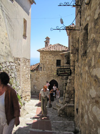 Romantic destinations: eze, medieval village in france